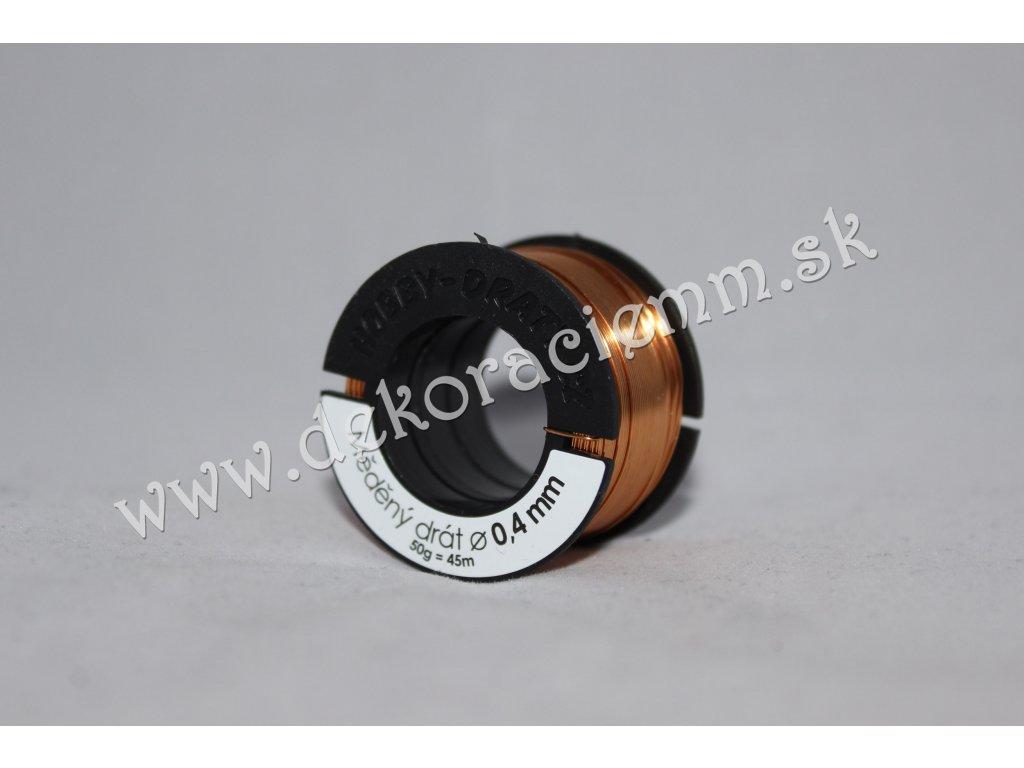 Drôtik dekoračný MEDENÝ(veľký návin 50g, cca 45m), Ø 0,4mm