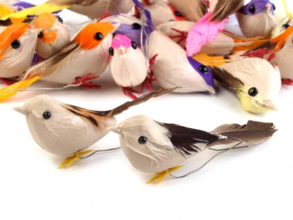 Dekorácia vtáčik s drôtikom
