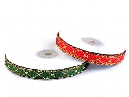 Vianočná stuha s lurexom šírka 10 mm/m