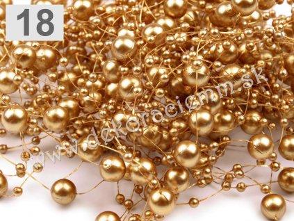 Perličky na silóne Ø 7mm, dĺžka 130cm