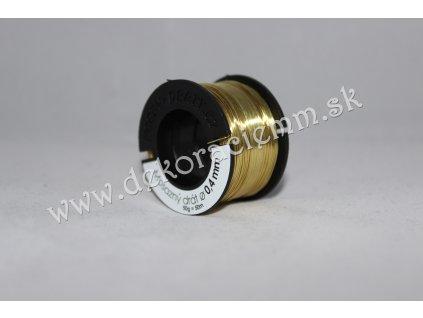 Drôtik dekoračný MOSADZNÝ - ZLATÝ (veľký návin 50g, cca 45m), Ø 0,4mm