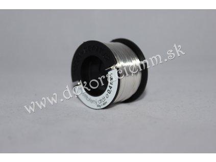 Drôtik dekoračný POSTRIEBRENÝ(veľký návin 50g, cca 45m), Ø 0,4mm