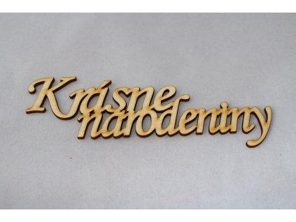 Drevený nápis KRÁSNE NARODENINY 17cm